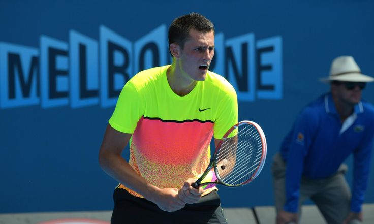 Australia's Bernard Tomic got off to a slow start in his first-round encounter with Tobias Kamke. Photograph: Greg Wood/AFP/Getty Images