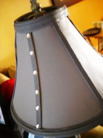 Painting lampshades with diluted Tulip fabric paint