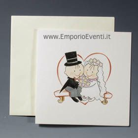 Partecipazioni di matrimonio sposa panchina