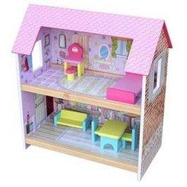 Mentari poppenhuis roze. Met 2 verdiepingen.