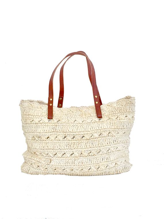 Large Straw BagStraw Beach Tote Oversized Beach by MOOSSHOP