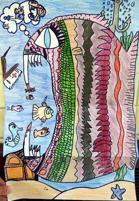 Art. Paper. Scissors. Glue!: Hungry Fish