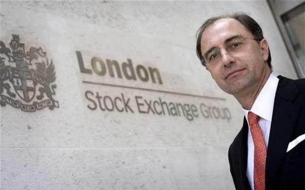 """Vote for Brexit would lead to 'implosion' of the continental bloc, warns LSE chief-- Britain's exit from the European Union would lead to the """"implosion"""" of the continental bloc and force the United States to intervene to put """"Humpty Dumpty back together again"""", the boss of the London Stock Exchange has claimed."""