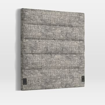 Panel Tufted Headboard, Twin, Distressed Tapestry, Feather Gray