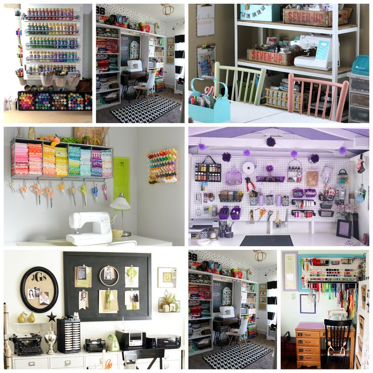You will love these organized craft rooms! Get over 25 craft rooms all in one place to inspired you to create your own craft studio in any space!