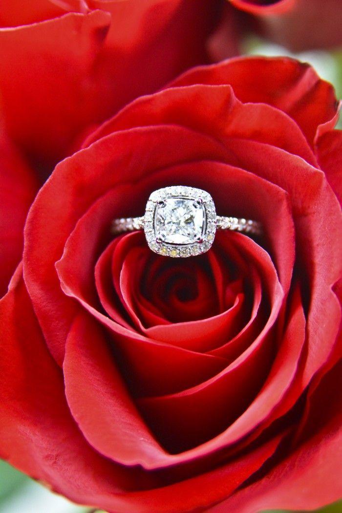 Gorgeous halo diamond engagement ring.. Um, yes, please!