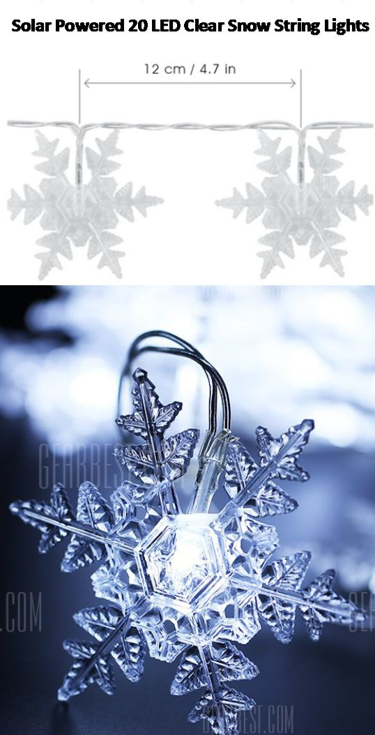 Snow string lights, Snow under the Sun! Powered by solar energy, this set of romantic string lights will not only become special beautiful scene, but is also energy-efficient