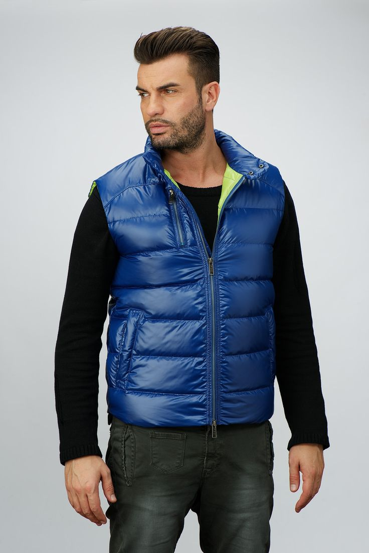 ak europe | man spring collection | men street style | down jacket | blue vest | casual outfit | ss18 | italian style