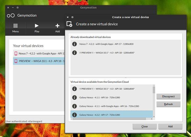 Blog do Edivaldo - Instale a nova versão do Genymotion, o emulador de Android