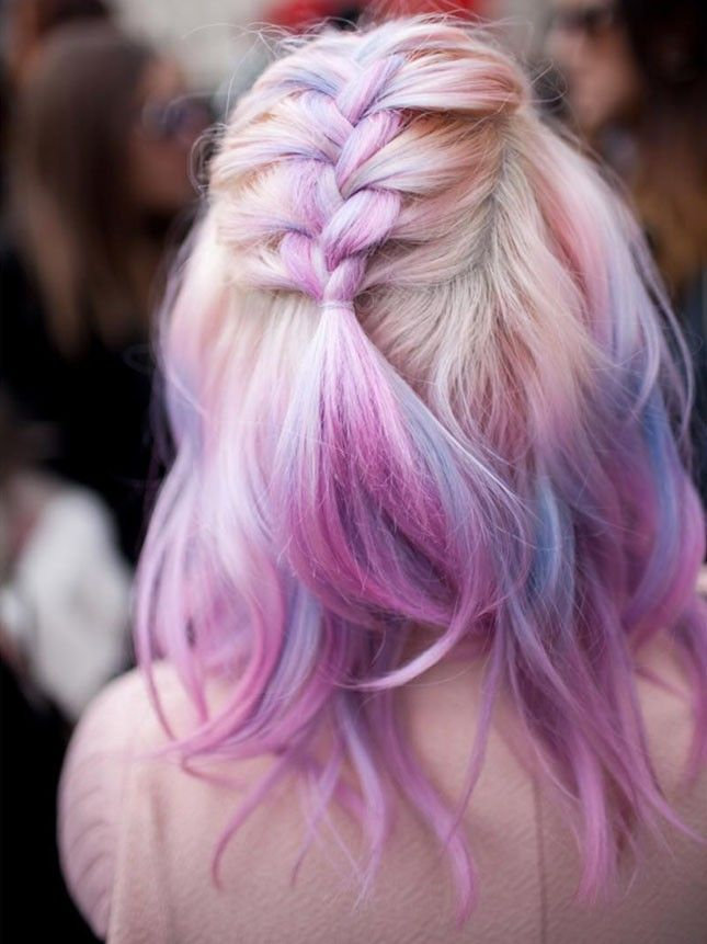 Purple + pink ends add a little color to your gorgeous locks.