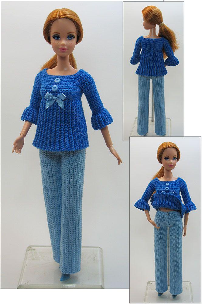 35 best Barbie images on Pinterest | Barbie dress, Crochet barbie ...