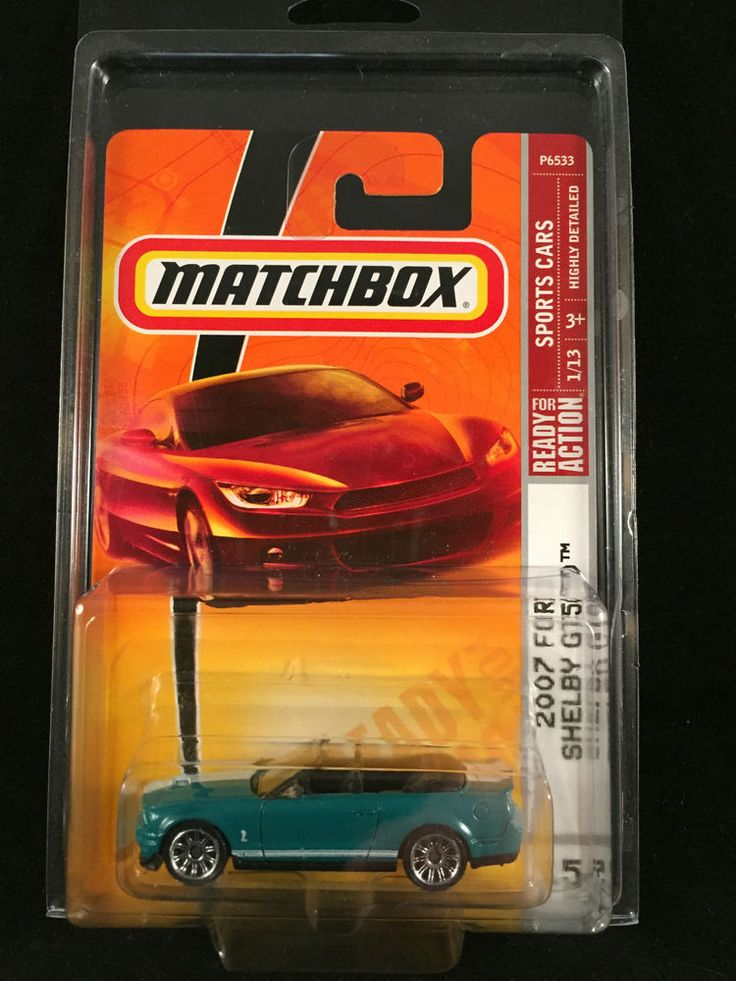 2009 Matchbox Sports Cars 2007 FORD SHELBY GT 500 Convertible #15 w/ PROTECTO #Matchbox #Ford