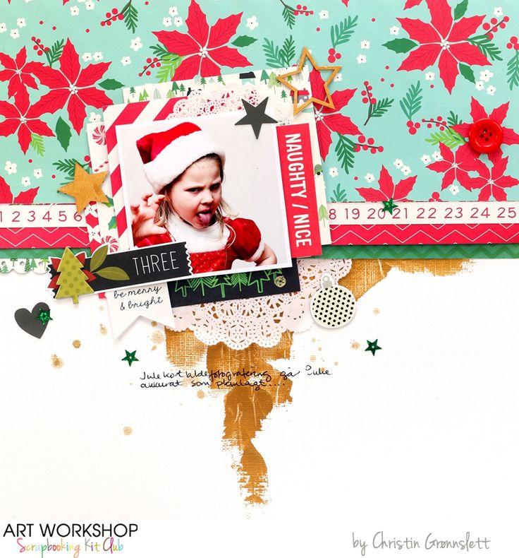 Art Workshop Kit Club December 2014 Scrap Main Kit by Christin Gronnslett