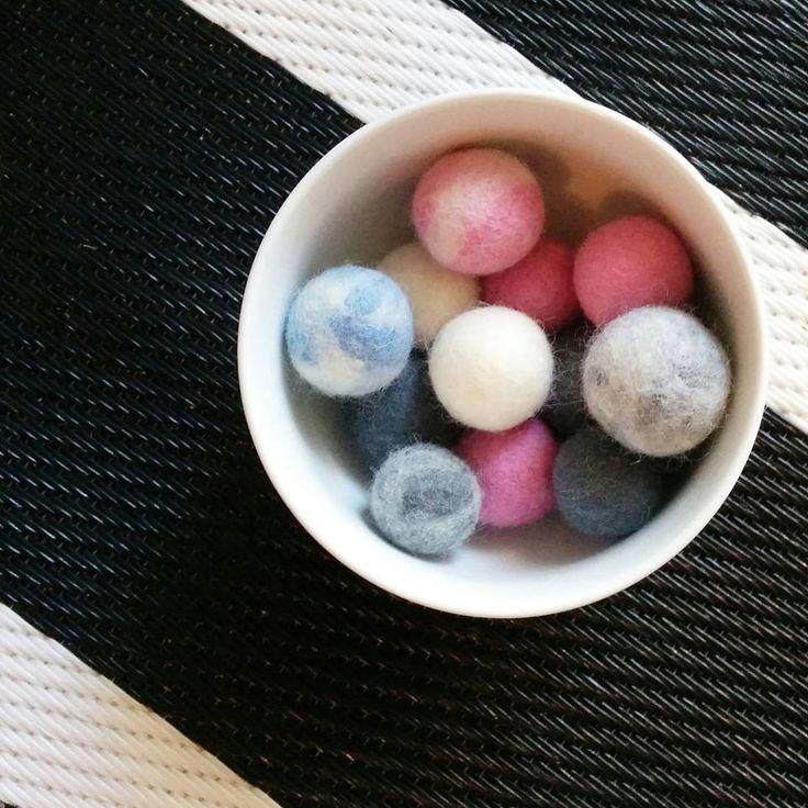Wool balls again!!!!  #minimal #design #wool #felt