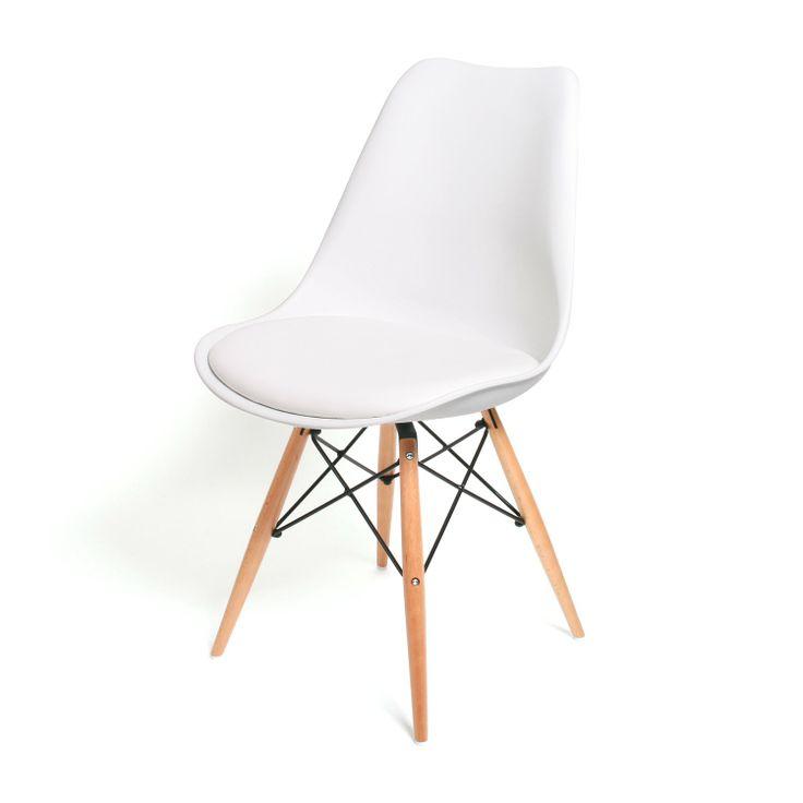 Dit is de stoel die ik graag zou willen. Past perfect bij de tafel :) Eetkamerstoel Consilium Wit / Hout