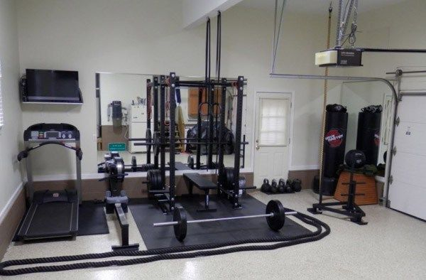 Unstoppable. Prowler, rack, cardio, punching bags, and even ropes. Solid garage gym.