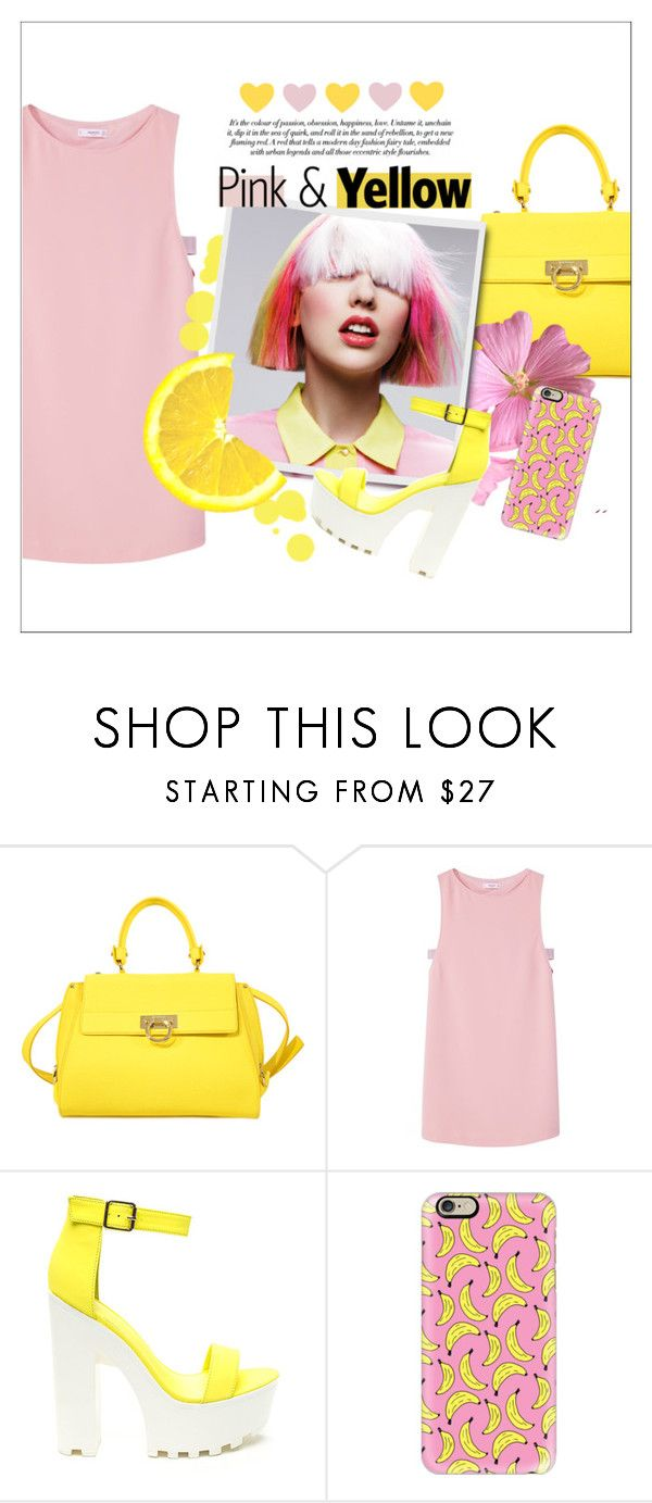 """and the stars exploding, we'll be fireproof"" by fernweeh on Polyvore featuring moda, Salvatore Ferragamo, MANGO i Casetify"