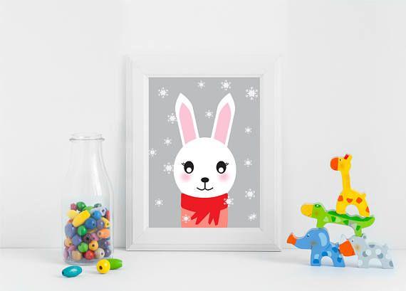 Bunny Nursery Decor Bunny Nursery Art Bunny Nursery Prints