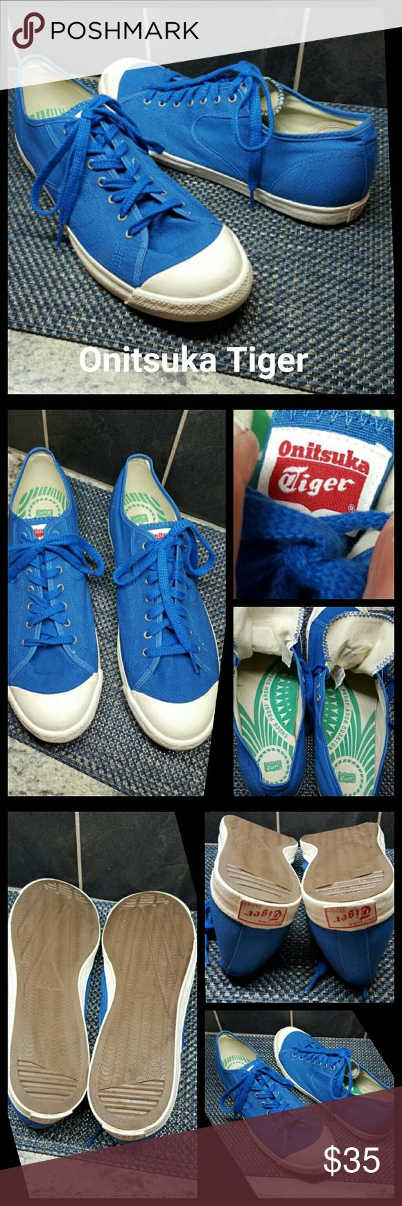 ONITSUKA TIGER Canvas Shoes Mens Canvas Shoes  Excellent Condition  Photo 5, showing 1 little spot on the top of each shoe. Very Comfortable Shoe True to size  No trades  Bundle and save  Resonable offers considered  No modeling Onitsuka Tiger Shoes Sneakers