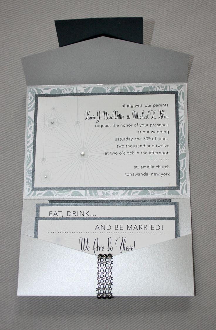 addressing wedding invitations married woman doctor%0A Silver and rhinestone custom wedding invitation