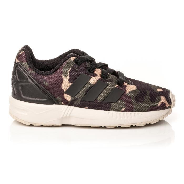 basket adidas zx flux camouflage kaki
