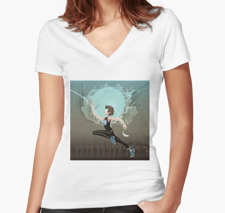 Superhero Speedster Illustration by Reality Kings | Womens White Fitted Vneck Tshirt for Women Available in All Sizes @redbubble  ---------------------------  #redbubble #sticker #superhero #speedster #comics #nerd #geek #cute #adorable #women #fittedvneck #tshirt #shirt #tee #clothing #apparel  ---------------------------  https://www.redbubble.com/people/realitykings/works/26145511-realitykings-superhero-speedster?asc=u&p=womens-fitted-v-neck&rel=carousel