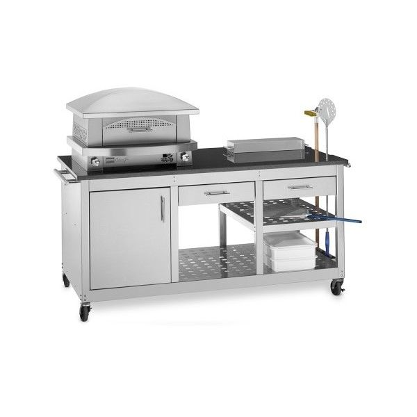 Kalamazoo Artisan Fire Outdoor Pizza Oven & Pizza Station featuring polyvore, home, kitchen & dining, small appliances, outdoor propane pizza oven, roasting oven, outdoor propane oven, outdoor bread oven and propane pizza oven