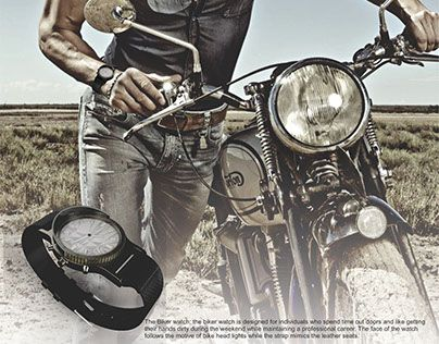 "Check out new work on my @Behance portfolio: ""Fossil biker watch""…"