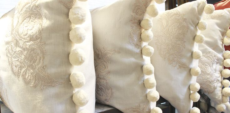 Pom pom cushions you'd swoon over