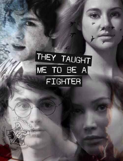 Percy Jackson, Divergent, Harry Potter, The Hunger Games