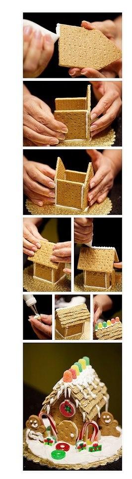 """Graham Cracker """"GingerBread"""" House"""
