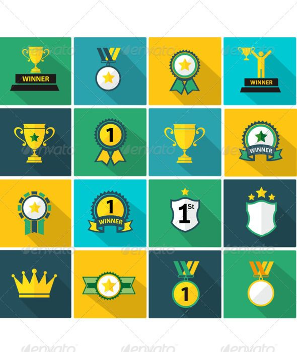 Set of Fflat Trophy and Prize Icon   Buy and Download: http://graphicriver.net/item/set-of-fflat-trophy-and-prize-icon-/8160976?WT.ac=category_thumb&WT.z_author=athikan&ref=ksioks