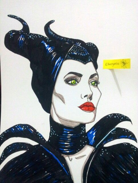 Face painting : Angelina Jolie as Maleficient