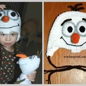 Crochet Inspired Olaf Hat Pattern (All S - via @Craftsy
