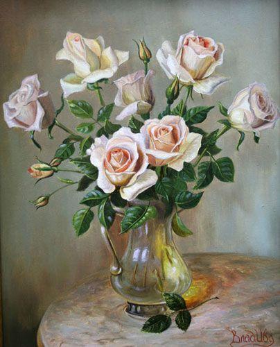 Розы   холст, масло, 50*40 см, 2006