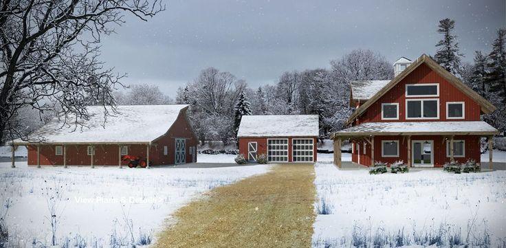 Barn and Barn Home Kit Dream Acreage Combo