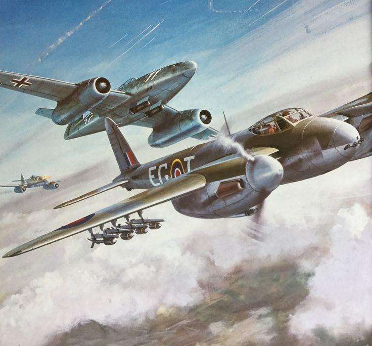 Roy Cross - ME 262 & Mosquito (close up)