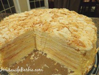 Lithuanian cake Napaleonas. Lietuviskas tortas. Lietuva