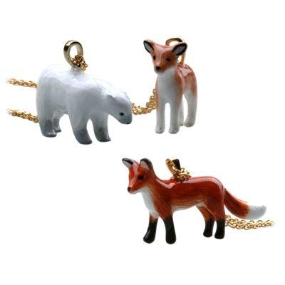 귀여운 아기사슴, 북극곰, 빨간 여우