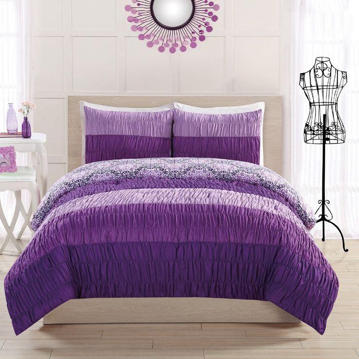Best Purple Comforter Ideas On Pinterest Purple Bedding - Black and purple comforter sets