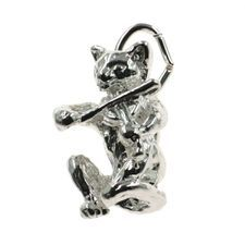 Cat and Fiddle Charm - chr-0120