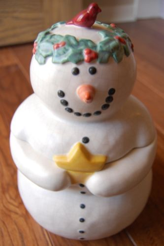 Once Upon a Starry Night Snowman Cookie Jar by Dept. 56