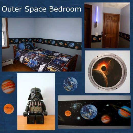 24 best images about star wars room on pinterest - Outer space bedroom decor ...