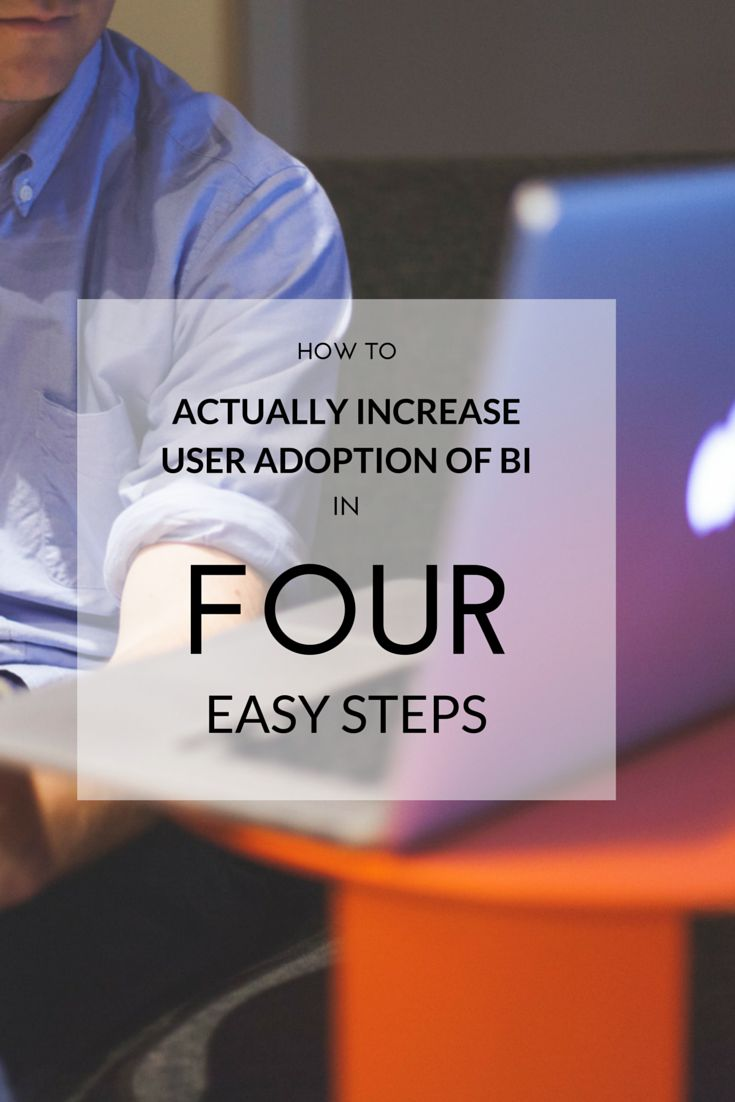 79% of companies in a Gleansight Benchmark Report on BI used 'number of active users' as a metric for measuring the ROI of BI. So what can you do to boost user adoption (and ROI)?  Check out the 4 steps you need to take to turn your employees into #BI users. #dataviz #data #analytics