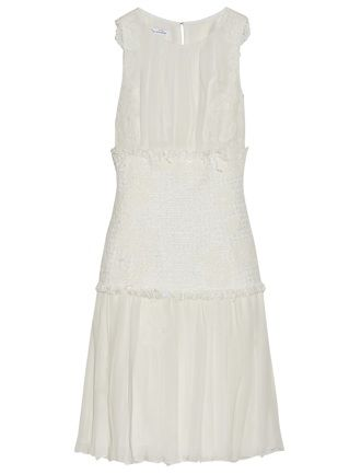 Oscarde la Renta - Embroidered chiffon dress