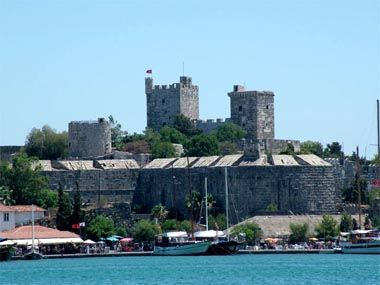 Marble from the tomb can still be seen in Bodrum Castle even today.