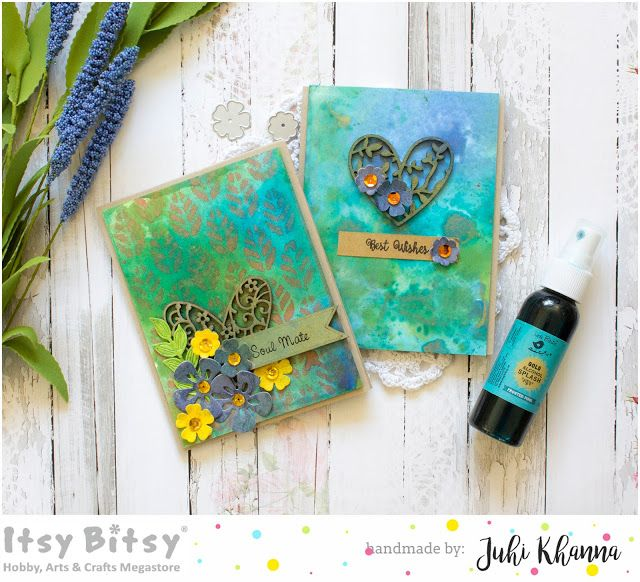 Card Backgrounds with Gold Alcohol Splash and Color Splash