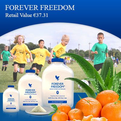 Forever Freedom -  The product has all the nutrients of aloe vera gel and glucosamine in it. It is an orange flavored drink and good for those who have problem in mobility.