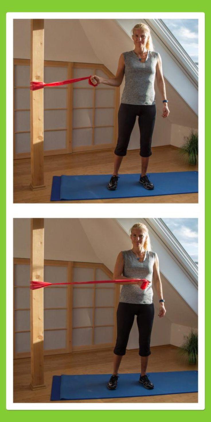 31 besten theraband bilder auf pinterest bewegung sport und abnehmen. Black Bedroom Furniture Sets. Home Design Ideas