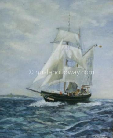 """Asgard II"" (1st Edn.) by Nuala Holloway - Acrylic on Board (Commission) #Asgard #Maritime #TallShips"